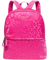 Michael Michael Kors Animal Jacquard Backpack A Macy's Exclusive Style Raspberry Gold