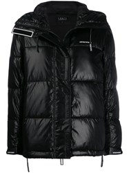 Emporio Armani Hooded Puffer Jacket Black