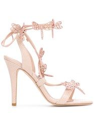 Red Valentino Dragonfly Sandals Pink And Purple