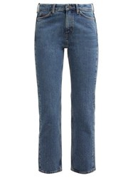 M.I.H Jeans Daily Crop High Rise Straight Leg Jeans Denim