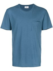 Ami Alexandre Mattiussi T Shirt With Chest Pocket Blue