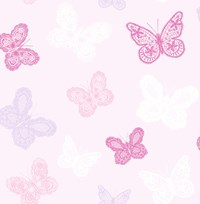 Graham And Brown Butterfly Wallpaper Pink