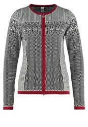 Dale Of Norway Sigrid Cardigan Black Off White Red Rose