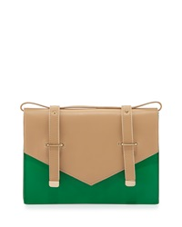 Maude Two Tone Leather Shoulder Bag Kelly Lauren Merkin