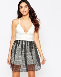 Hedonia Serephina Skater Dress With Overlay Skirt Ivory White