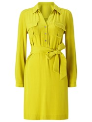 Precis Petite Aubree Tie Shirt Dress Mid Yellow