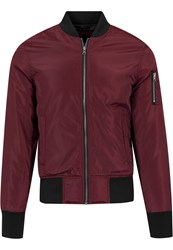 Urban Classics Bomber Jacket Burgundy Black Dark Red