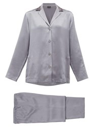 La Perla Silk Charmeuse Pyjamas Dark Grey