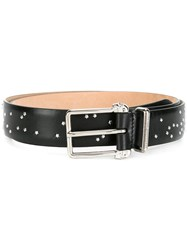 Alexander Mcqueen Star Studded Belt Black