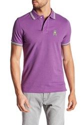 Psycho Bunny Neon Pima Cotton Polo Purple