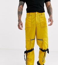 Reclaimed Vintage Cargo Pants With Strapping In Yellow