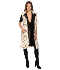 Versace Cheetah Fur Vest Bianco Latte Women's Vest White