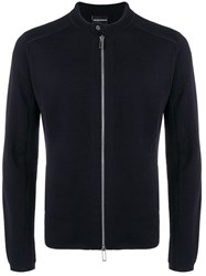 Emporio Armani Zipped Sweater Blue