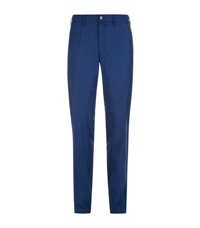 Stefano Ricci Leather Trim Wool Trousers