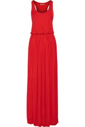 Tart Collections Eloise Pleated Crepe Maxi Dress Red