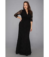 Kiyonna Screen Siren Lace Gown Black Women's Dress