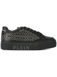 Philipp Plein Star Studded Sneakers Women Calf Leather Leather Rubber 37 Black