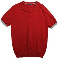 Lords Of Harlech Men's Marcus Polo Shirt In Flame Red