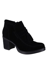 Mia Shayla Suede Ankle Length Boots Black