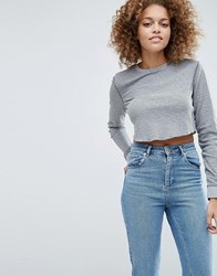 Asos Top In Washed Waffle Stripe And Long Sleeve Multi