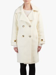 Essentiel Antwerp Tricky Double Breasted Coat Off White