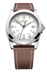 Victorinox 'Infantry' Leather Strap Watch 40Mm
