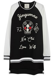 Miharayasuhiro Black Embroidered Cotton Sweatshirt