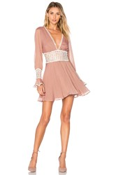 For Love And Lemons Celine Mini Dress Blush