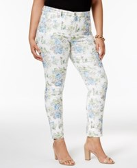 Charter Club Plus Size Bristol Jacquard Skinny Jeans Only At Macy's Light Blue Air Combo