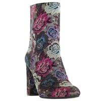 Dune Oxford Block Heeled Ankle Boots Multi Floral