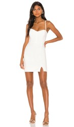 Nookie Muse Mini Dress In White. Ivory