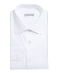 Stefano Ricci Basic Solid Barrel Cuff Dress Shirt White