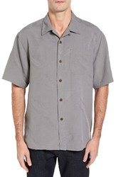 Tommy Bahama Men's Big And Tall 'Rio Fronds' Short Sleeve Silk Sport Shirt Shadow
