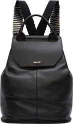 Mcq By Alexander Mcqueen Black Grained Leather Razor Blade Backpack