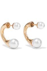 Chloe Darcey Gold Tone Faux Pearl Earrings