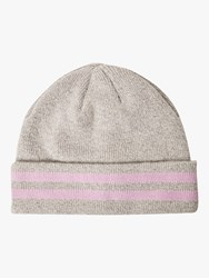 French Connection Sport Stripe Knitted Beanie Grey Lavender