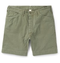 Rrl Herringbone Cotton Shorts Army Green