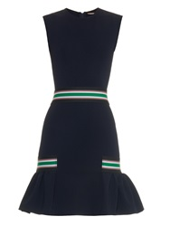 Christopher Kane Striped Strap Fluted Hem Dress
