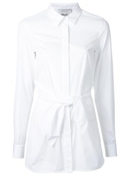 3.1 Phillip Lim Fitted Knot Shirt White