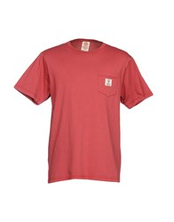 Franklin And Marshall T Shirts Brick Red