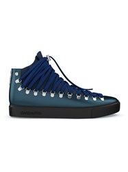 Swear Redchurch Hi Top Sneakers Calf Leather Leather Suede Rubber Blue