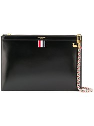 Thom Browne Small Calfskin Duck Stud Pouch Black