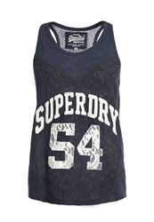 Superdry Athletic Lace Tank Top Navy