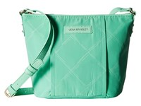 Vera Bradley Preppy Poly Crossbody Mint Cross Body Handbags Green