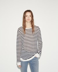 Alexander Wang Stripe Tee Ink And Ivory