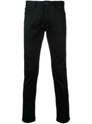 Attachment Tapered Trousers Men Cotton Polyurethane 4 Black