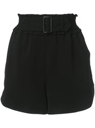 A.L.C. Belted Shorts Black