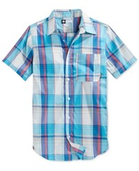 Lrg Men's Big And Tall Rc One Plaid Short Sleeve Shirt Off White