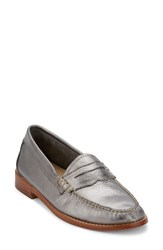G.H. Bass Women's And Co. 'Whitney' Loafer Silver Leather