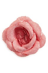 Hook Albert Men's Chambray Lapel Flower Red Chambray